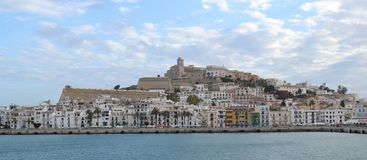 Ibiza harbour. View of the ibiza harbour, famous travel destination stock photography