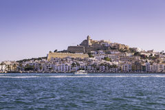 Ibiza Eivissa old town city view Royalty Free Stock Photo