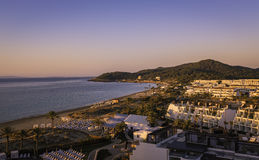 Ibiza Eivissa, sunrise over  Playa den Bossa Beach Stock Photos