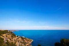 Ibiza Es Cubells medelhavs- sikt i San Jose Royaltyfria Foton