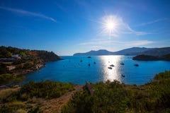 Ibiza Es Porroig also Port Roig view at Balearic Stock Photos