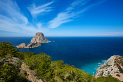 Ibiza Es Vedra and Vedranell from Torre des Savinar Stock Photography