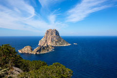 Ibiza Es Vedra and Vedranell from Torre des Savinar Stock Photos