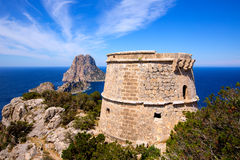 Ibiza Es Vedra view from Torre des Savinar Tower Stock Images