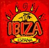 Ibiza Espana, Ibiza Hiszpania hiszpański tekst - ilustracji
