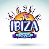 Ibiza Espana - l'Espagne, icône de vecteur, conception d'emblème Image stock