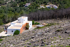 Ibiza after fire in spring 2011 Royalty Free Stock Photos