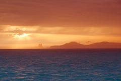 Ibiza formentera boat trip sunset Stock Images