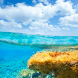 Ibiza Formentera underwater waterline blue sky royalty free stock images