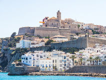 Ibiza fortress views royalty free stock photos