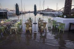 Ibiza fuera del café Fotografía de archivo libre de regalías