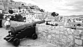 Ibiza gammal stad Fotografering för Bildbyråer
