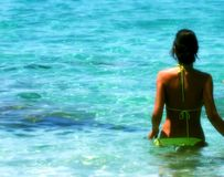 Ibiza girl Royalty Free Stock Images
