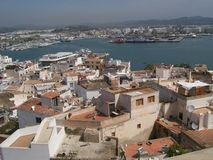 Ibiza harbor royalty free stock photography