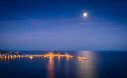 Ibiza harbor at night Royalty Free Stock Image