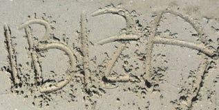 Ibiza headline in the sand Stock Images