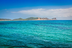 Ibiza island,beach Ses Salines  in Sant Josep at Balearic island Stock Photos