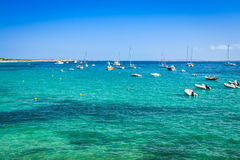 Ibiza island,beach Ses Salines  in Sant Josep at Balearic island Royalty Free Stock Photography