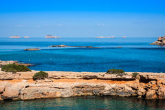 Ibiza island,beach Ses Salines  in Sant Josep at Balearic island Royalty Free Stock Photo