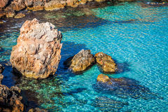 Ibiza island,beach Ses Salines  in Sant Josep at Balearic island Royalty Free Stock Photos
