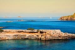 Ibiza island,beach Ses Salines  in Sant Josep at Balearic island Stock Image
