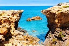 Ibiza island Canal d en Marti Pou des Lleo beach Royalty Free Stock Images