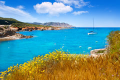 Ibiza island Canal d en Marti Pou des Lleo beach Stock Images