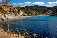 Ibiza island coastline Stock Images