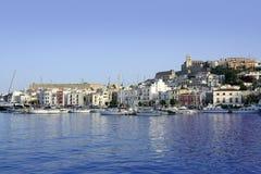 Ibiza island harbor in Mediterranean sea Royalty Free Stock Photo