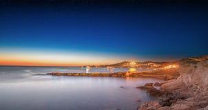 Ibiza island night view Stock Photography