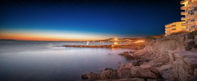 Ibiza island night view Stock Images