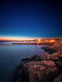 Ibiza island night view Royalty Free Stock Images