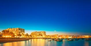 Ibiza island night view Stock Image