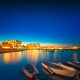 Ibiza island night view Royalty Free Stock Photos