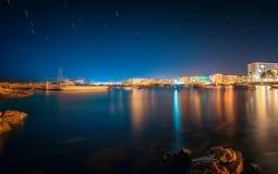 Ibiza island night view Stock Images