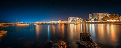 Ibiza island night view Royalty Free Stock Image