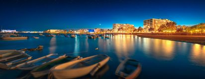 Ibiza island night view Stock Photography
