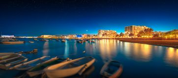 Ibiza island night view Stock Photos