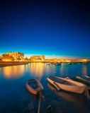Ibiza island night view Royalty Free Stock Photos
