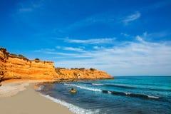 Ibiza island Platja Es bol Nou beach Ses Salines Royalty Free Stock Images