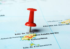 Ibiza   Island ,Spain map Stock Photos