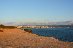 Ibiza Island at sunset, Spain Cala Gracio Royalty Free Stock Image