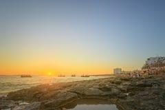 Ibiza island sunset view Stock Images