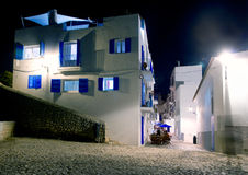 Ibiza island white houses in the night Royalty Free Stock Photo