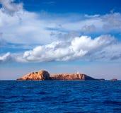 Ibiza Islas bledas Beldes islands with lighthouse Royalty Free Stock Photos