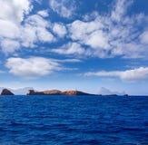 Ibiza Islas bledas Beldes islands with lighthouse Stock Images