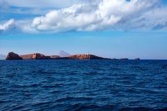 Ibiza Islas bledas Beldes islands with lighthouse Royalty Free Stock Photo