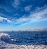 Ibiza Islas bledas Beldes islands with lighthouse Stock Photo