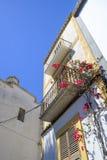 Ibiza kalkade huset Royaltyfri Bild