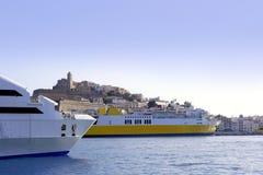 Ibiza landmark island in Mediterranean sea Royalty Free Stock Images